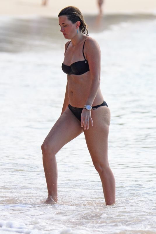 RHEA DURHAM in Bikini on the Beach in Barbados 12/28/2018