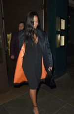 RIHANNA Out for Dinner at Ours Restaurant in London 12/28/2018