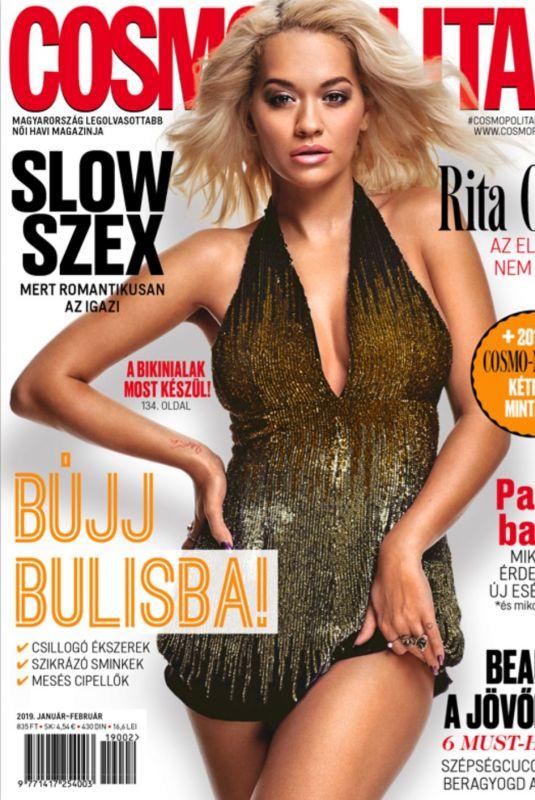 RITA ORA on the Cover of Cosmopolitan, Hungary January/February 2019