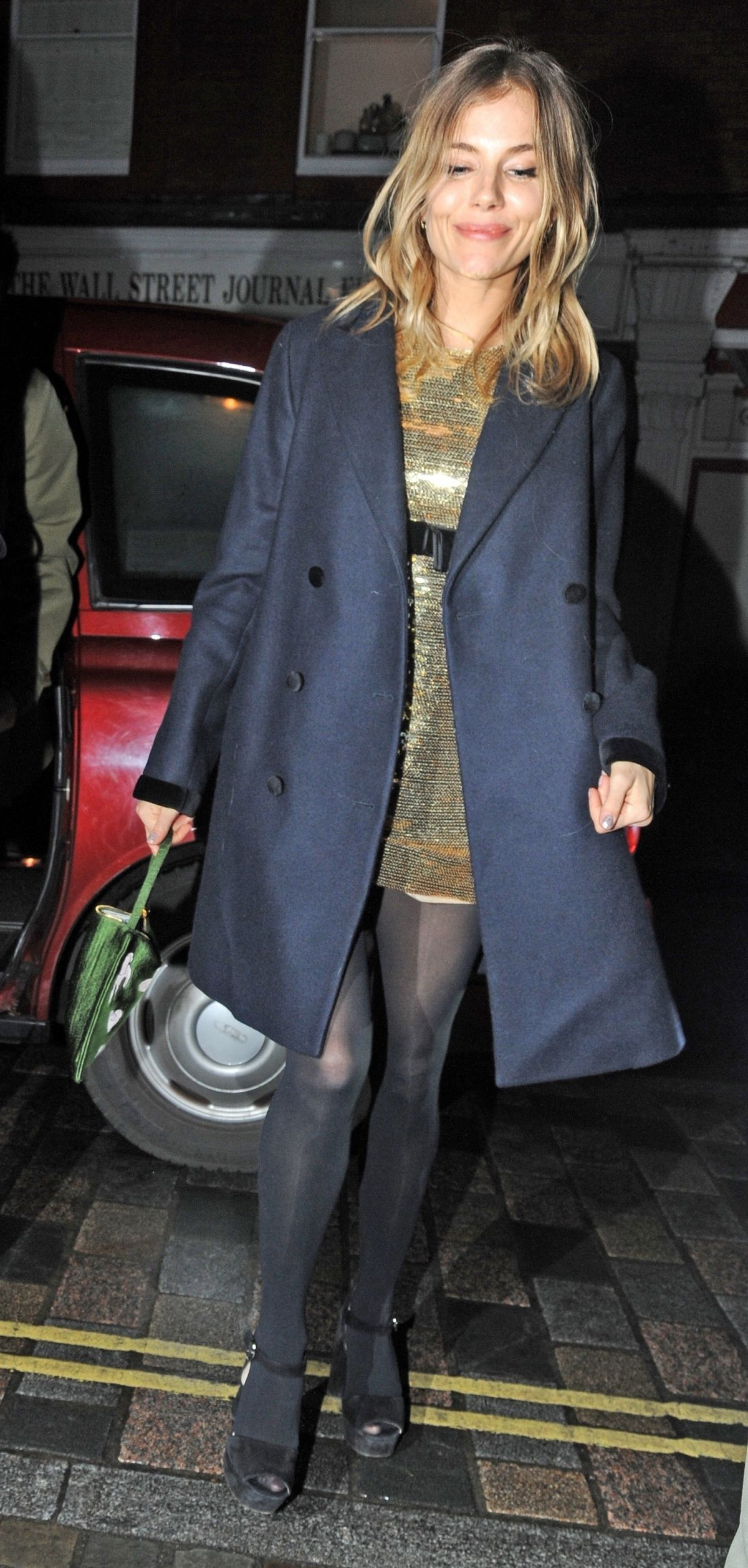 SIENNA MILLER at Chiltern Firehouse in London 12/19/2018