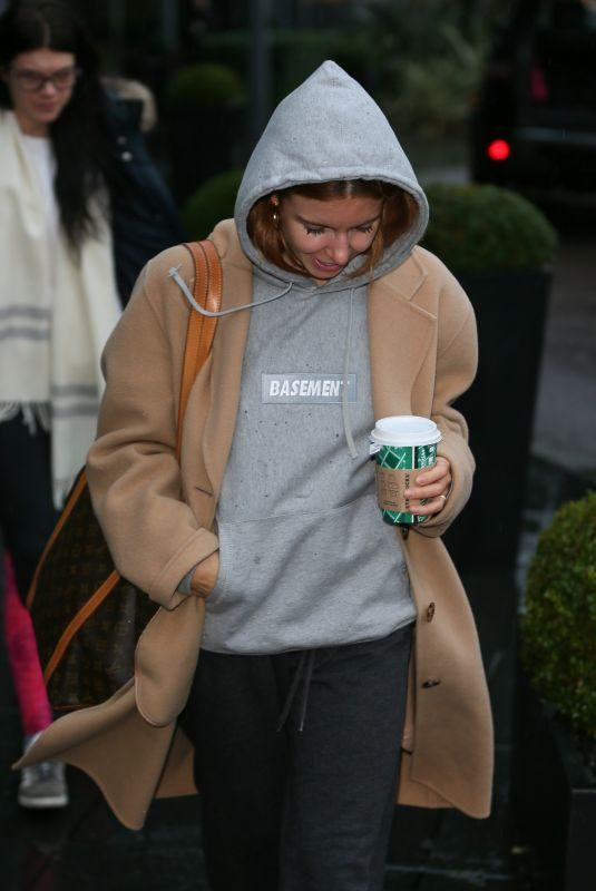 STACEY DOOLEY Leaves Her Hotel in London 12/01/2018