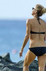 TEA LEONI in Bikini at a Beach in Barbados 12/31/2018