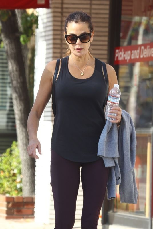 TERI HATCER Leaves a Gym in Los Angeles 12/22/2018