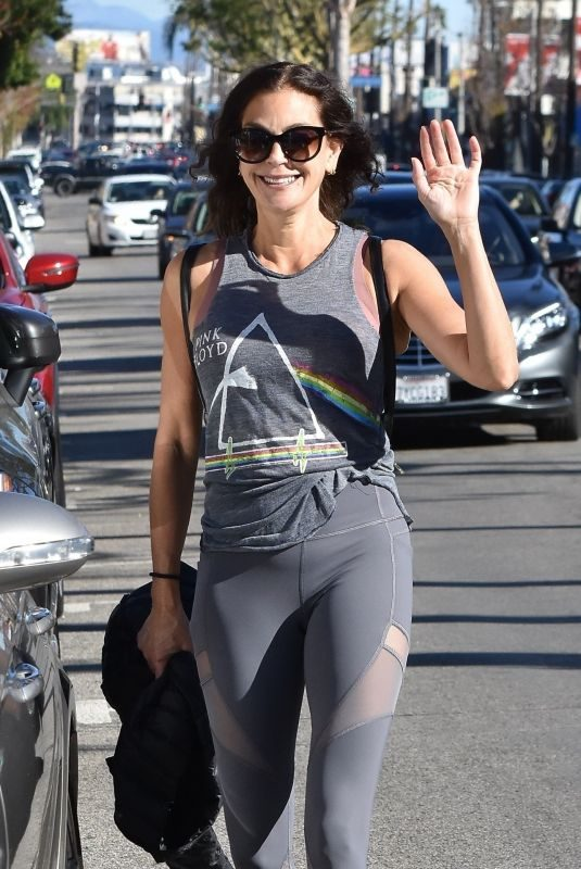 TERI HATCHER in Tights Leaves a Gym in Studio City 12/28/2018