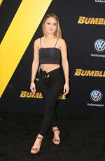 VALENTINA GENTA at Bumblebee Premiere in Hollywood 12/09/2018