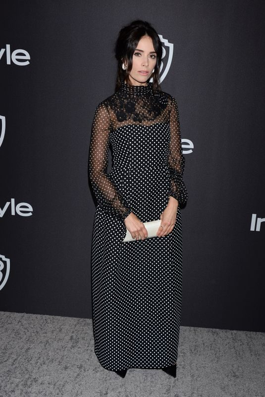 ABIGAIL SPENCER at Instyle and Warner Bros Golden Globe Awards Afterparty in Beverly Hills 01/06/2019