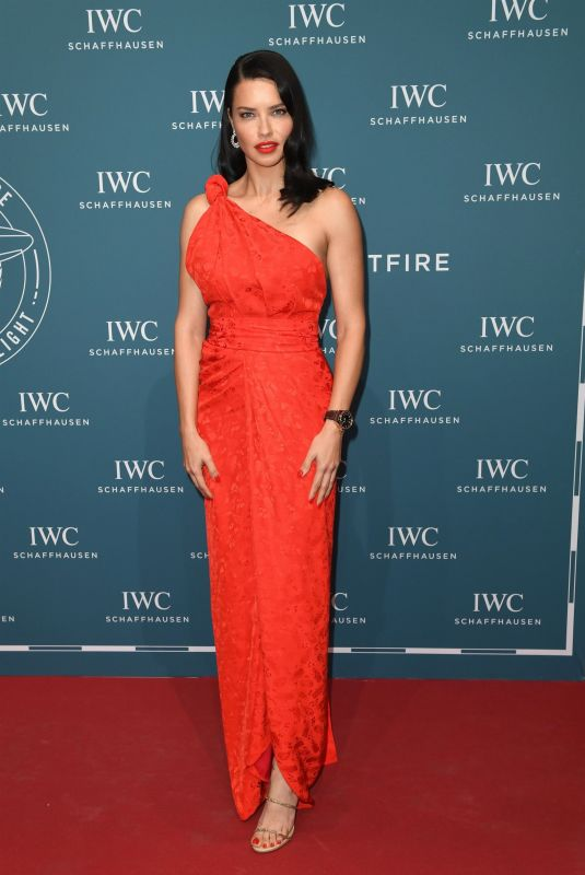 ADRIANA LIMA at IWC Schaffhausen Gala in Geneva 01/15/2019
