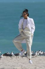 AIRA FERREIRA in Bodysuit on the Set of a Photoshoot in Miami 01/25/2019