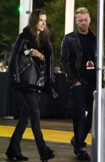 ALESSANDRA AMBROSIO Leaves I Am the Highway: A Tribute to Chris Cornell Concert in Inglewood 01/16/2019