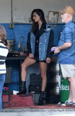 ALESSANDRA AMBROSIO on the Set of a Photoshoot in Miami 01/22/2019