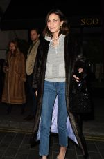 ALEXA CHUNG Out and About in London 01/14/2019