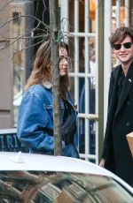ALEXA CHUNG Out and About in New York 01/08/2019