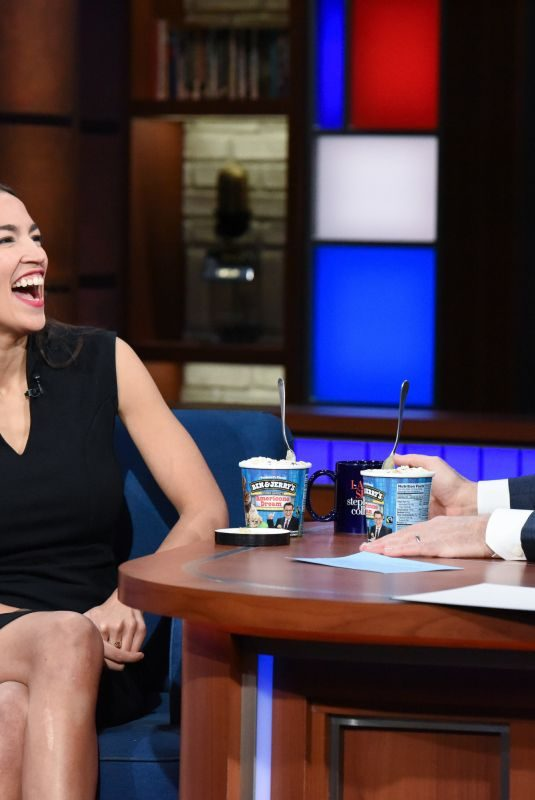 ALEXANDRIA OCASIO-CORTEZ at Late Show with Stephen Colbert 01/21/2019