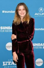 ALICE ENGLERT at Them That Follow Premiere at Sundance Film Festival 01/27/2019
