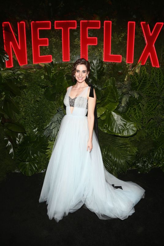 ALISON BRIE at Netflix Golden Globes Awards After Party in Los Angeles 01/06/2019