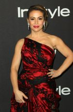 ALYSSA MILANO at Instyle and Warner Bros Golden Globe Awards Afterparty in Beverly Hills 01/06/2019