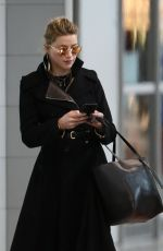 AMBER HEARD at Airport in Paris 01/20/2019