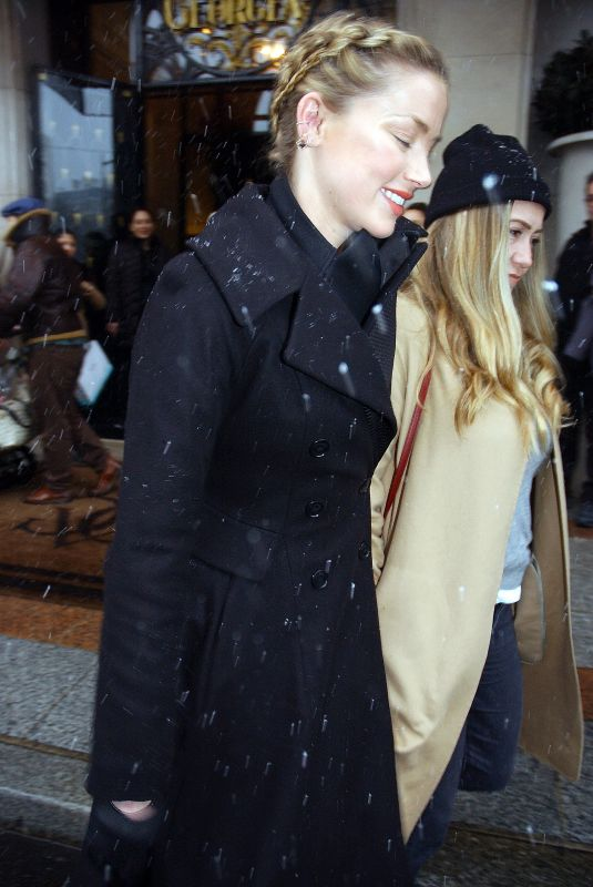 AMBER HEARD Out in Paris 01/22/2019