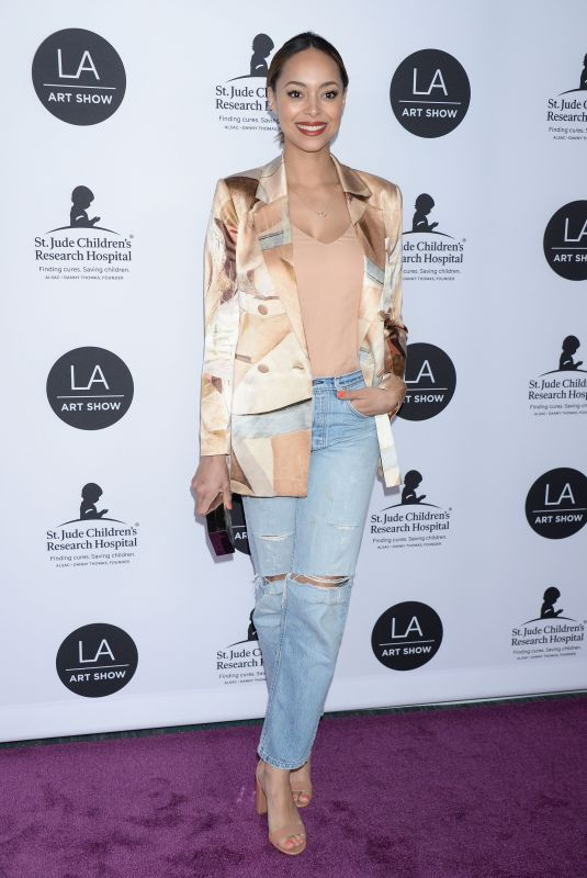 AMBER STEVENS at LA Art Show Opening Night Gala 01/23/2019