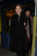 AMBR HEARD Leaves Laperouse Restaurant in Paris 01/21/2019