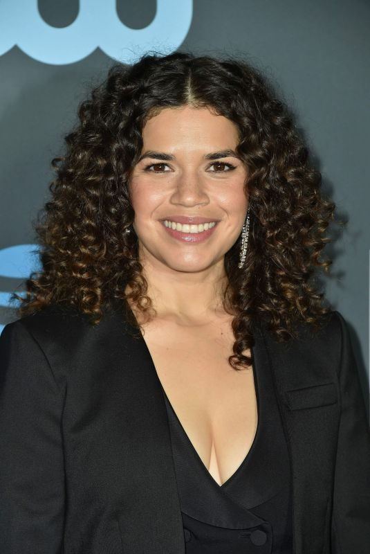 AMERICA FERRERA at 2019 Critics' Choice Awards in Santa Monica 01/13/2019
