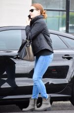 AMY ADAMS in Tight Denim Out Shopping in Beverly Hills 01/15/2019