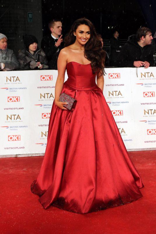 AMY CHILDS at 2019 National Television Awards in London 01/22/2019