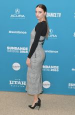 ANGELA SARAFYAN at Extremely Wicked, Shocking Evil and Vile Premiere at Sundance Film Festival 01/26/2019