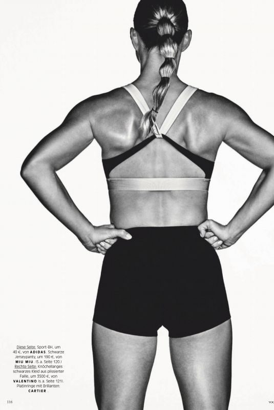 ANGELIQUE KERBER in Vogue Magazin, Germany February 2019