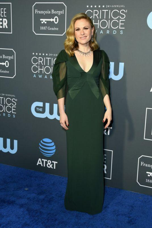 ANNA PAQUIN at 2019 Critics' Choice Awards in Santa Monica 01/13/2019