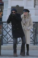 ANNABELLE WALLIS and Chris Pine Out in New York 01/21/2019
