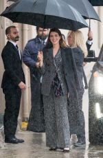 ANNE HATHAWAY Arrives at Jimmy Kimmel Live in Hollywood 01/14/2019
