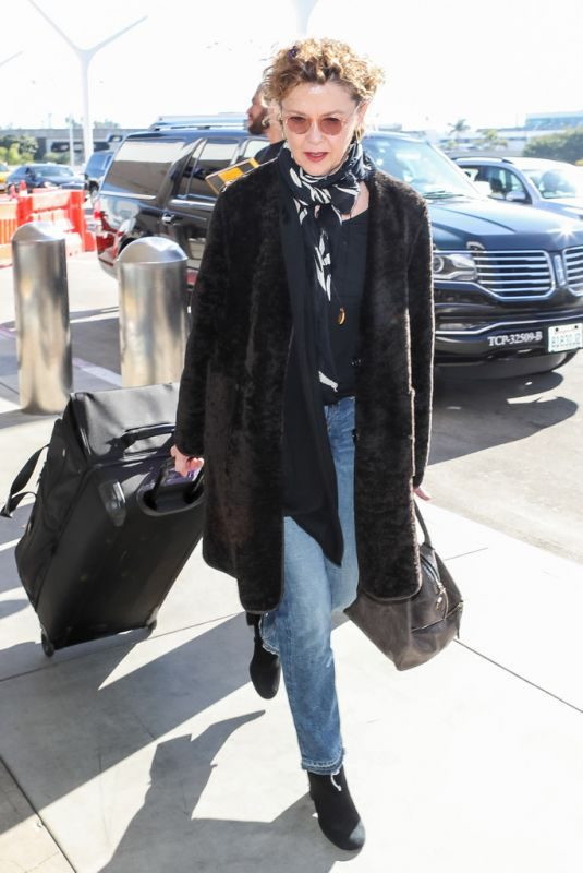 ANNETTE BENNING at LAX Airport in Los Angeles 01/24/2019