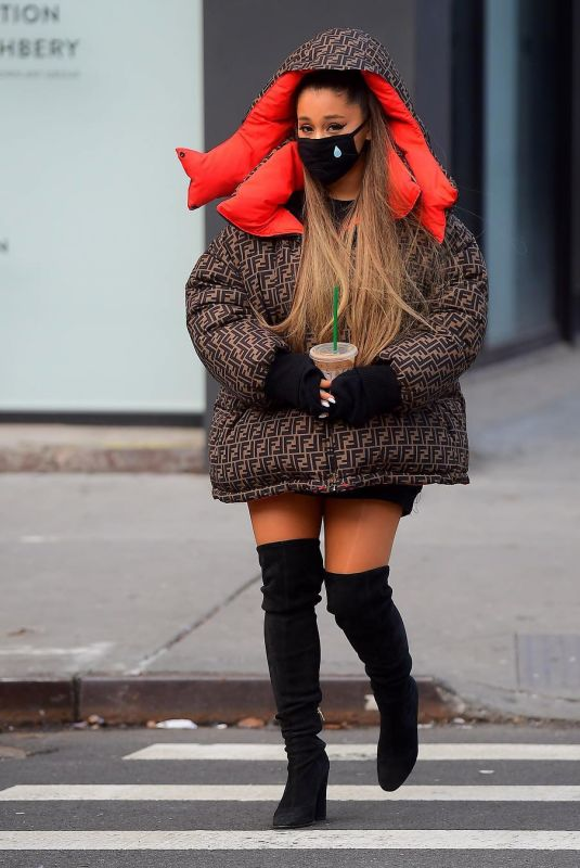 ARIANA GRANDE Out and About in New York 01/01/2019
