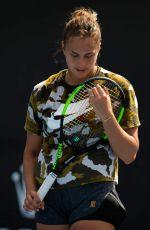 ARYNA SABALENKA at 2019 Australian Open Practice Session at Melbourne Park 01/12/2019