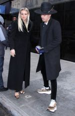 ASHLEE SIMPSON and Evan Ross Arrives at Good Day New York 01/07/2019