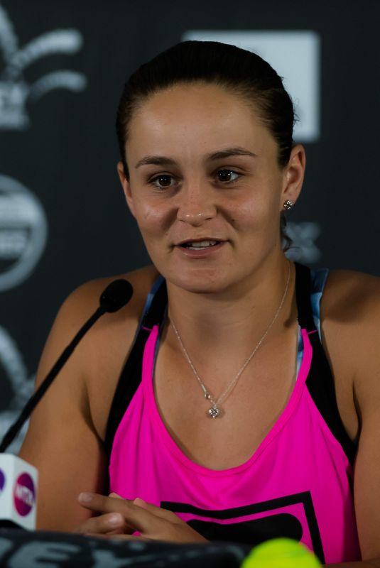 ASHLEIGH BARTY at 2019 Sydney International Tennis Press Conference 01/10/2019