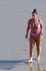 ASHLEY GRAHAM in Bikini on the Beach in Los Angeles 01/13/2019