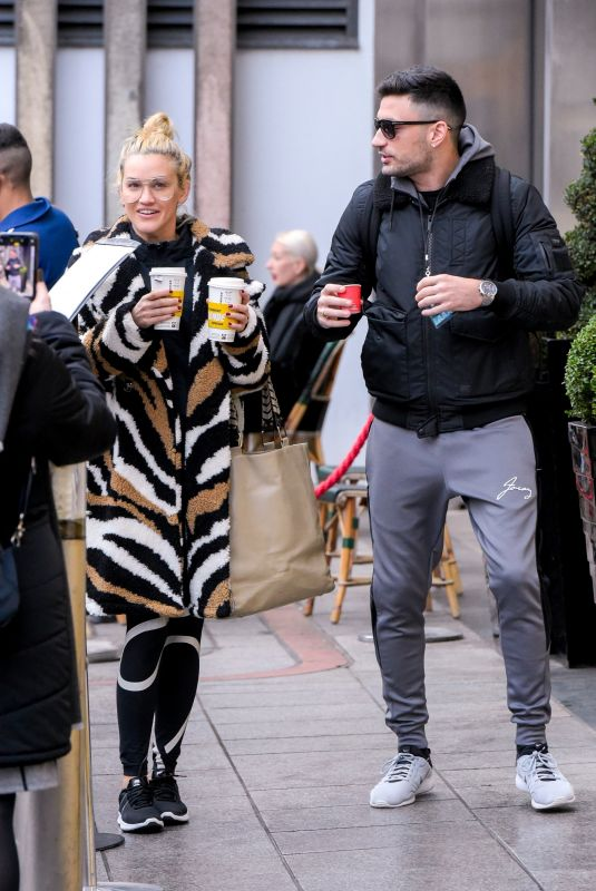 ASHLEY ROBERTS and Giovanni Leaves Their Hotel in Birmingham 01/15/2019