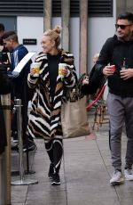ASHLEY ROBERTS Leaves a Hotel in Birmingham 01/15/2019