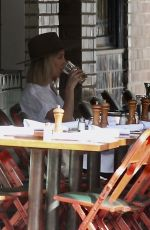 ASHLEY TISDALE Out for Lunch at Little Dom