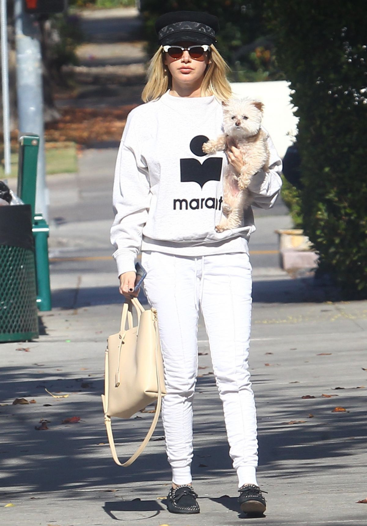 Ashley Tisdale Out With Her Dog In Los Feliz 01022019 Hawtcelebs