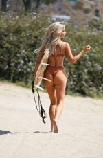 AUBREY EVANS in Bikini for 138 Water at a Beach in Malibu 01/03/2019