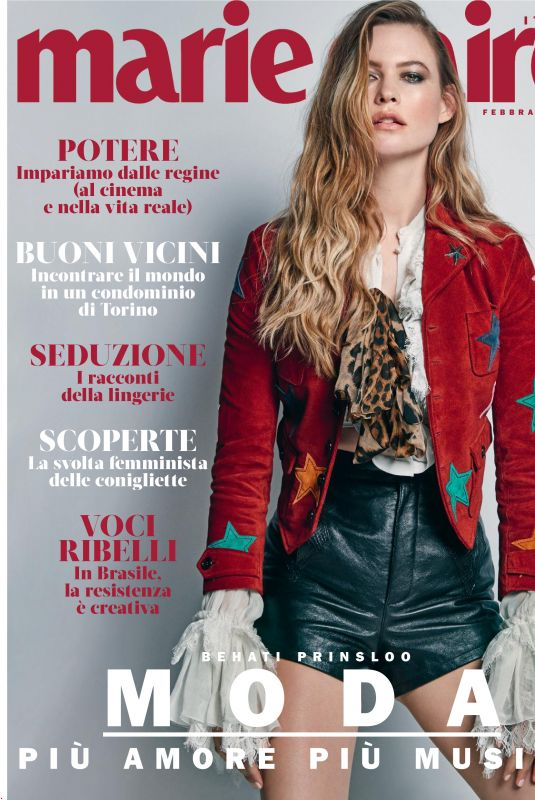 BEHATI PRINSLOO in Marie Claire Magazine, Italy February 2019