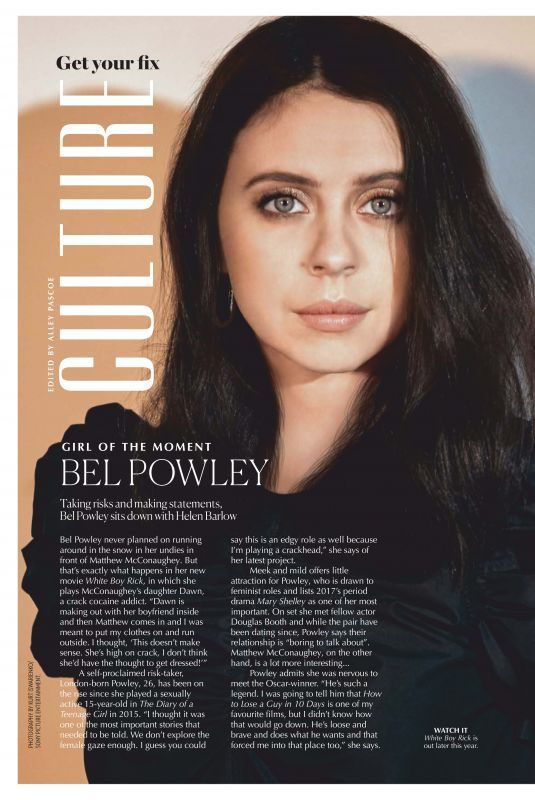 BEL POWLEY in Marie Claire Magazine, Australia March 2019