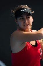 BELINDA BENCIC at 2019 Australian Open Practice Session at Melbourne Park 01/12/2019
