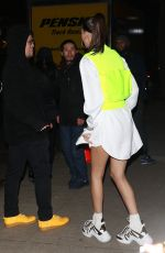 BELLA HADID Arrives at Chrome Hearts & Louis Vuitton Dinner in New York 01/09/2019