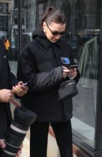 BELLA HADID Out in New York 01/17/2019