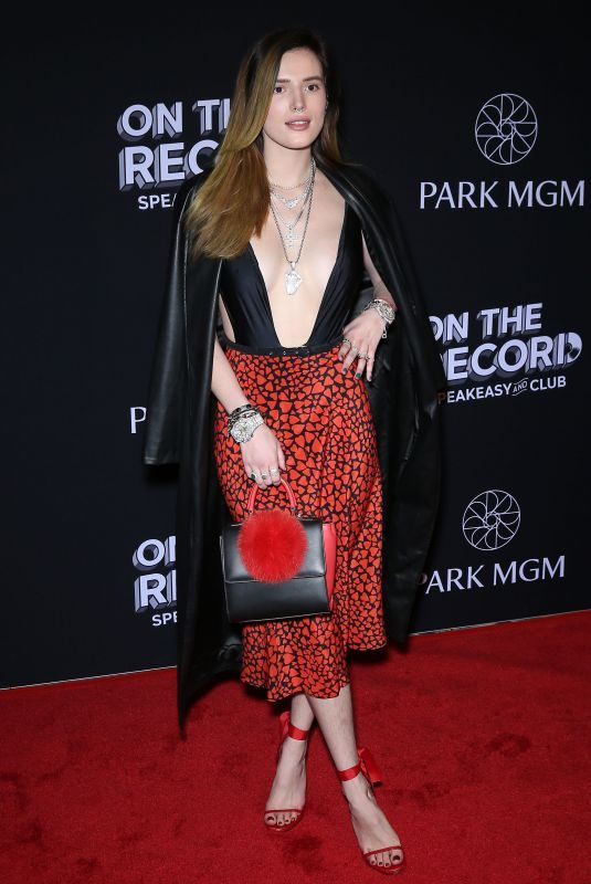BELLA THORNE at On the Record Opening in Las Vegas 01/19/2019