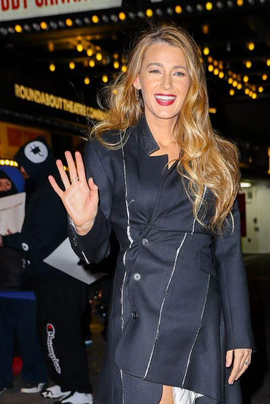 BLAKE LIVELY Night Out in New York 01/10/2019